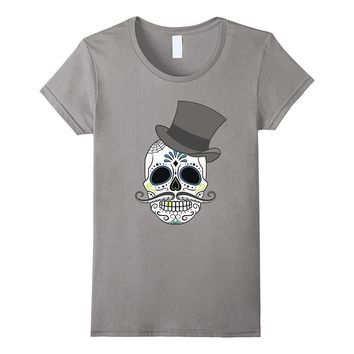 Halloween Funny Skull Party T-Shirt with Spooky Skeleton