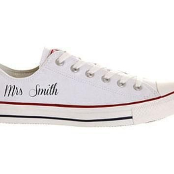 bride custom wedding converse