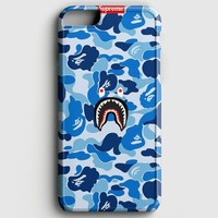 Supreme x Bape Blue Pattern iPhone 8 Plus Case | casescraft