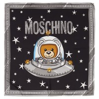 Moschino Spaceship Bear Silk Square Scarf | Nordstrom