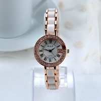 Women Rhinestones Alloy Chain Strap Quartz Wrist Watch Hot = 1956708548