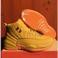 Air Jordan 12 Retro AJ12 Wheat Sport Shoes 41-47