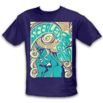 SeedleSs Clothing - Green Girl 8 T-Shirt - Navy - [Po]t-Shirts - 420 Lifestyle Apparel  - Grasscity.com