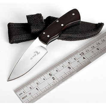 Cutter Cut Machete Bowie knife with Nylon Sheath camp tactical outdoor combat hunt survival self defense military army Pare Peel