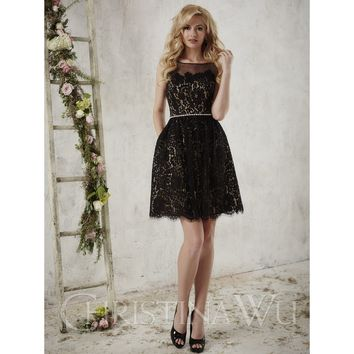 Christina Wu 22722 Short Lace Bridesmaid Dress