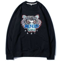 KENZO Women Fashion Tiger Round Neck Pullover Top Sweater
