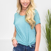 Dear John Vintage Wash Top | Sea Foam Green