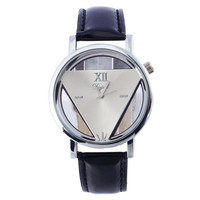 Womens Hollow Out Leather Watch