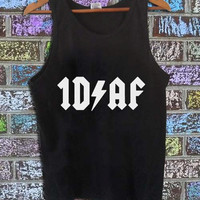 One Direction 1DAF black tanktop for men and women