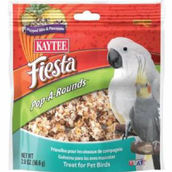 Kaytee Fiesta Pop A Rounds Bird Milo Pineapple