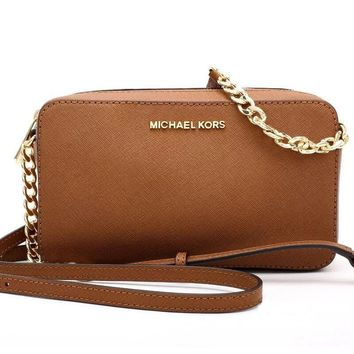 MK Women Fashion Shopping Leather Chain Shoulder Bag Satchel Crossbody