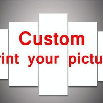 5 Pieces/set Custom Your Own Design or Pictures Wall Art Pictures for Room Decor Print Poster Picture Canvas Printed Painting