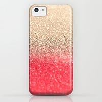GATSBY CORAL GOLD iPhone & iPod Case by Monika Strigel