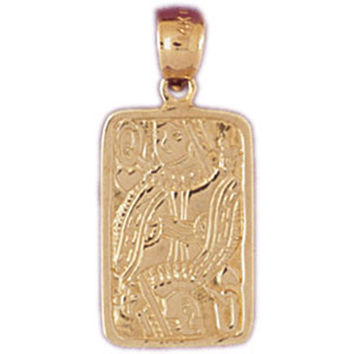 14K GOLD GAMBLING CHARM - PLAYING CARD #5453