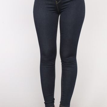 It's Now Or Never Skinny Jeans - Dark Denim