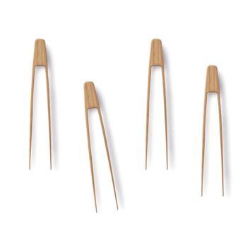 Bamboo Tiny Tongs (set of 4)