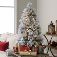 3.5FTPre-Lit Flocked Battery Operated Holiday Christmas Tree
