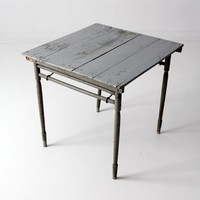 antique painted wood folding table
