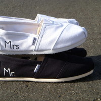 The Jack and Jill - Wedding TOMS His and Hers TWO PAIRS