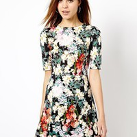 Warehouse Floral Print Dress - Multi