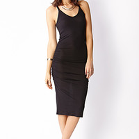 Easy Ruched Midi Dress