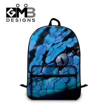 Cool Backpack school Green Snake 3D Pattern School Backpacks for Boys,Girls Cool book bags,Fashion laptop backpacking for college student,leisure bag AT_52_3