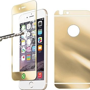 "Besgoods iPhone 6 screen protector, [ Tempered Glass ] Front + Back Screen Protector Guard Cover Skin Ultra-Clear Highest Quality Premium Anti-Scratch Anti-Fingerprint Anti-glare Bubble-free for iPhone 6 4.7"" Inch (Gold)"
