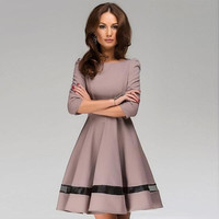 'The Madison' Pleated Long Sleeve Dress