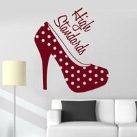 Vinyl Wall Decal Women's High Heel Shoes Girl Room Fashion Stickers Unique Gift (ig3646)