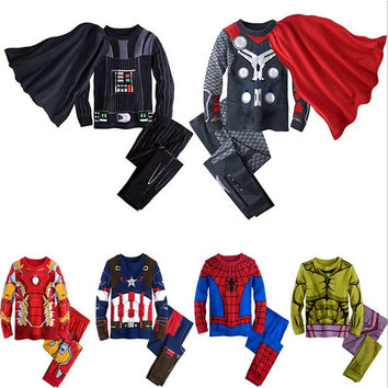 Marvel Comic Classic Spiderman The Hulk Child Costume Kids Boys Fantasia Halloween Fantasy Fancy Superhero Carnival Party Dress