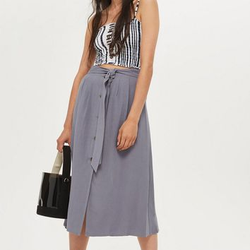 Button Through Midi Skirt | Topshop