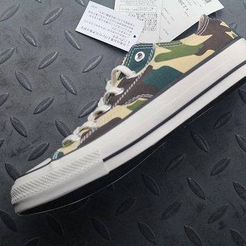 Converse Addict Fashion Canvas Flats Sneakers Camouflage