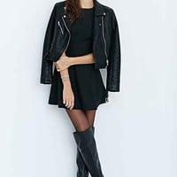 Cooperative Long-Sleeve Text Dot Inset Dress-
