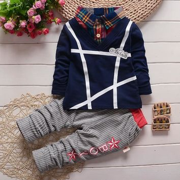 BibiCola Baby Boys Clothing Sets children boys clothes Suits Kids  Shirt + Pants 2pcs Outfits Bebe Tracksuit Costume For Boy