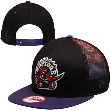 Toronto Raptors New Era 9Fifty Pop Midder Strapback Hat - Black