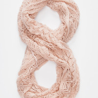Open Knit Infinity Scarf Light Blast One Size For Women 26410338001