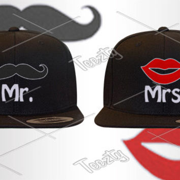 Mr Mrs Moustache Snapbacks Snapback Hats Hat Caps Cap Couple Snapbacks Snapback Matching Snapback Snapbacks Couple  Moustache November