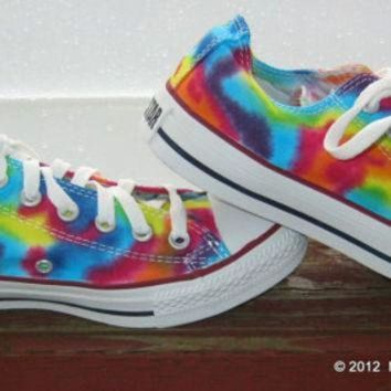 CREYUG7 Made to Order ... Tie-Dye Converse Shoes Women size Lo Top