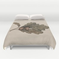 Acorns Duvet Cover by Jessica Roux
