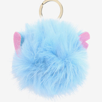 Disney Lilo & Stitch Stitch Puff Ball Key Chain