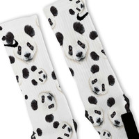 Panda Custom Nike Elite Socks