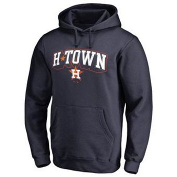 Houston Astros MLB Navy Fastball Fleece Pullover Hoodie