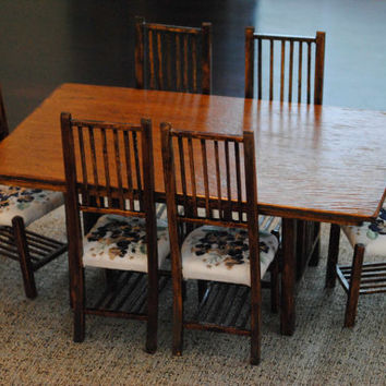 Plans for 1/6 Scale Miniature Furniture Dining room table and 6 chairs