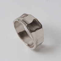 Butter No.1 - Sterling Silver Ring , Unisex Band , Mens Ring , Wedding Band