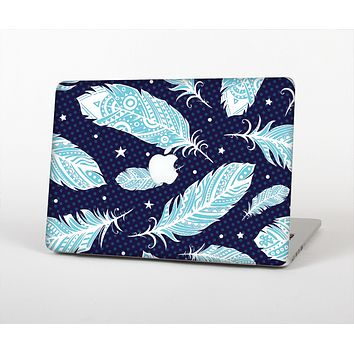 The Blue Aztec Feathers and Stars Skin Set for the Apple MacBook Air 13""