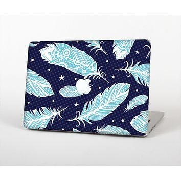 "The Blue Aztec Feathers and Stars Skin Set for the Apple MacBook Pro 13"" with Retina Display"