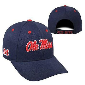 Licensed Mississippi Rebels NCAA Adjustable Triple Threat Hat Cap Top of the World KO_19_1