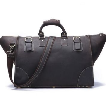 Vintage Leather Travel/Overnight/Leather/Duffel Bag