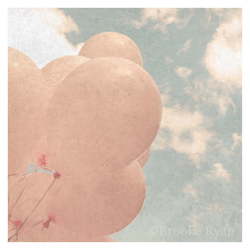 FREE US SHIPPING Pink Balloons 8 x 8 Photo