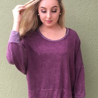 Back To Us Sweatshirt- Burgundy